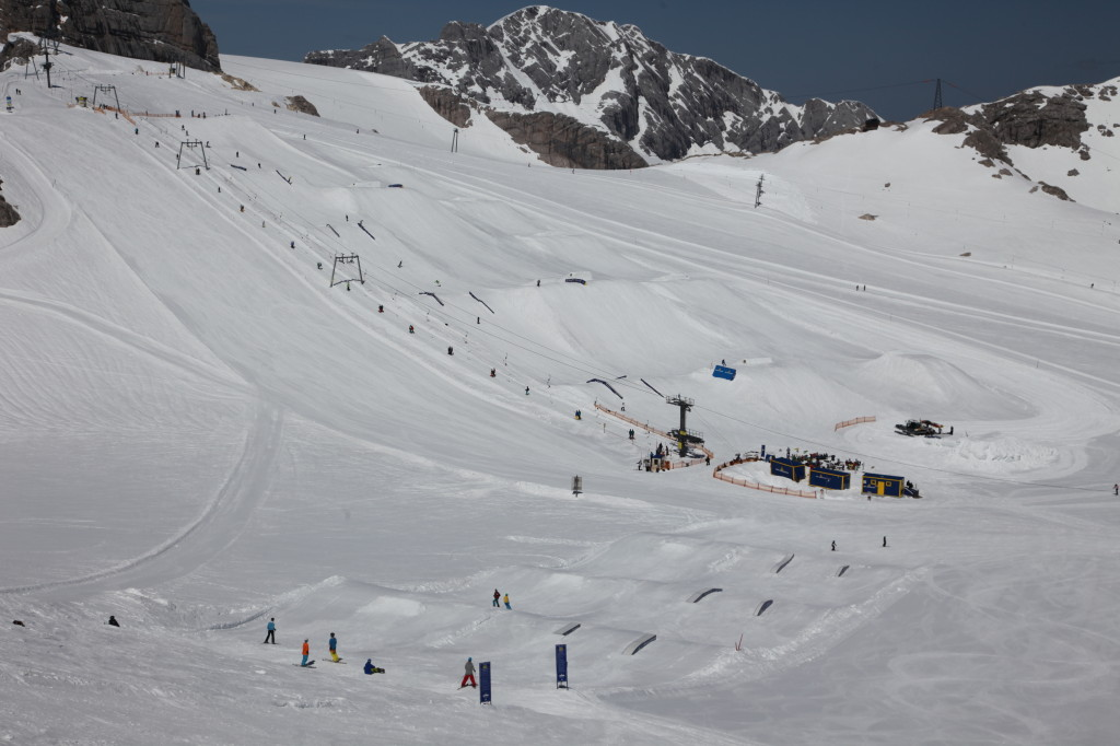 view of the Dachstein snowpark